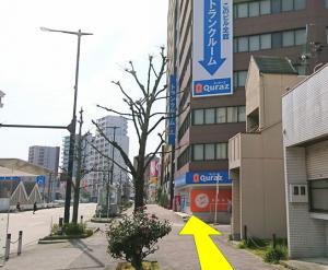 地地下鉄から丹蔵整体へアクセス3