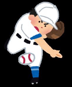 野球肩のピッチャー
