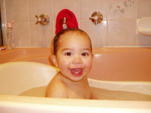お風呂で温まる